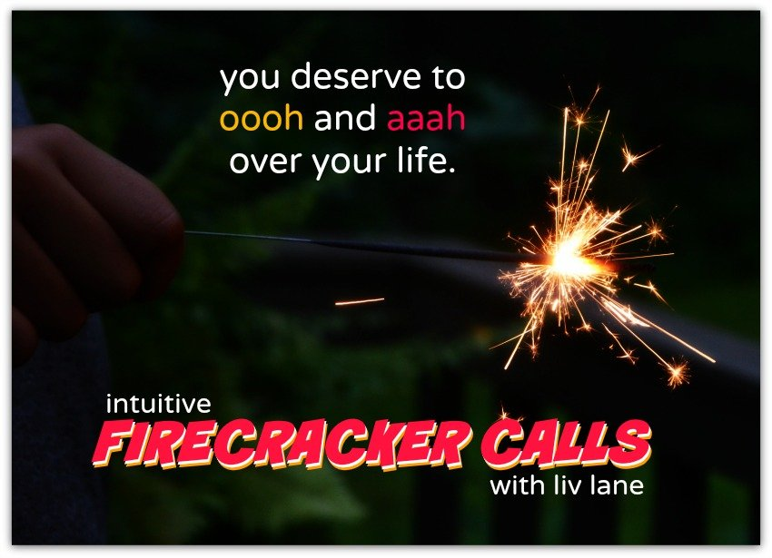 firecracker calls: intuitive readings with liv lane