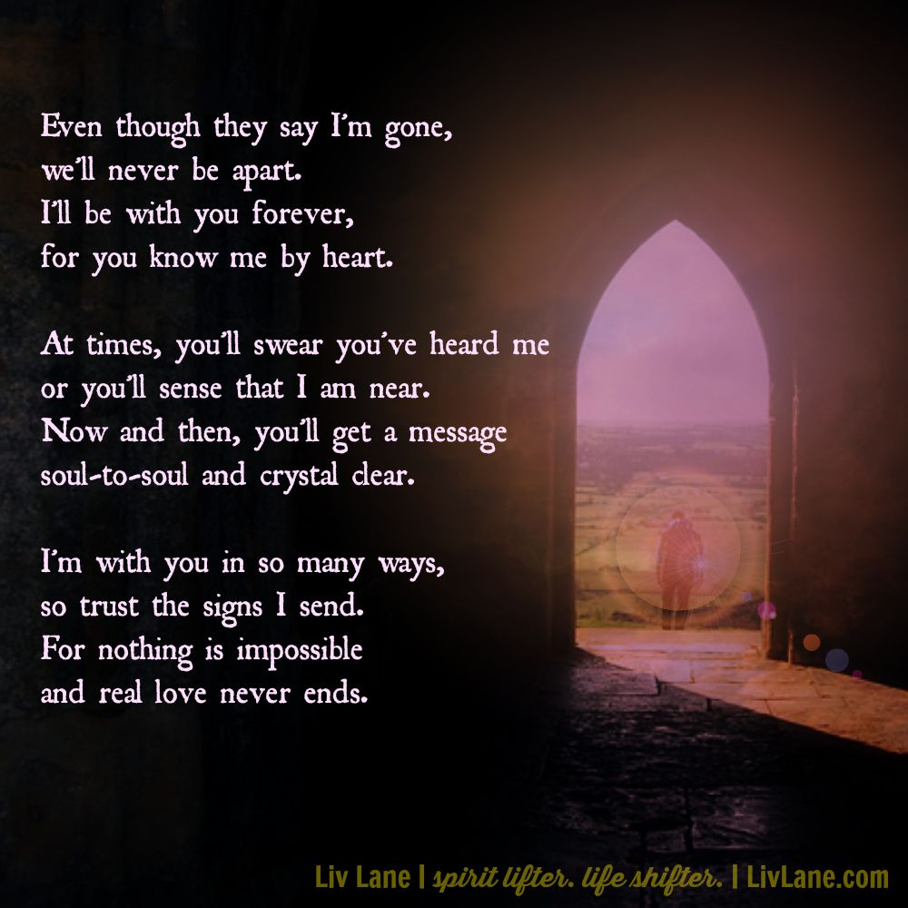 Real Love Never Ends A Poem For Grieving Hearts Free