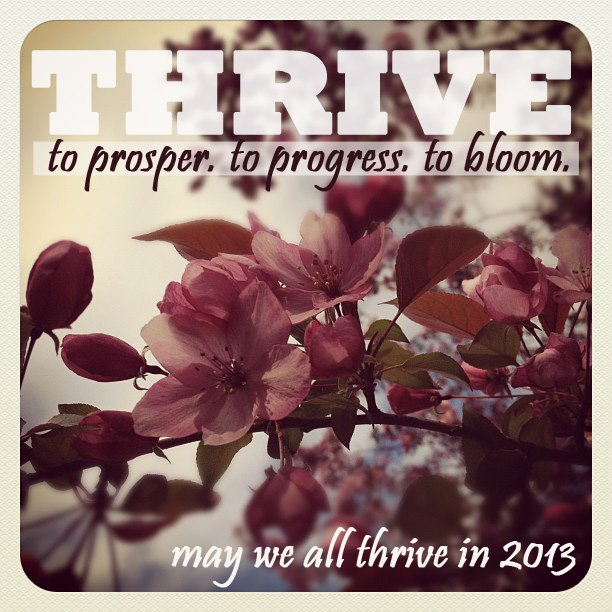 word of the year: thrive