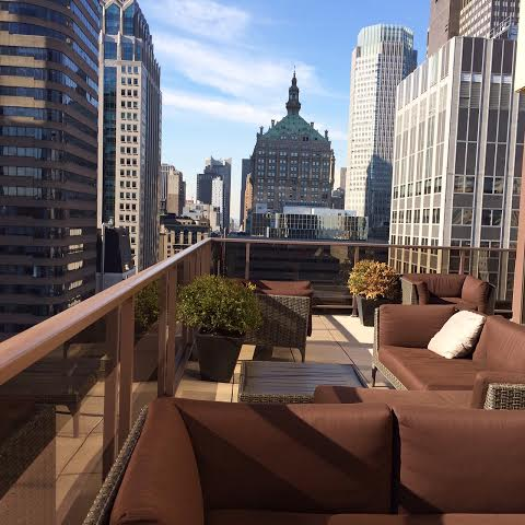 New York City rooftop terrance ... all to myself!